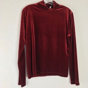 White Stag Red Velvet Turtle neck top